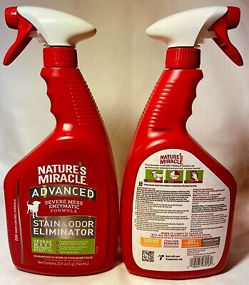 Natures Miracle Advanced Stain & Odor Remover Trigger Spray 24oz Free Shipping