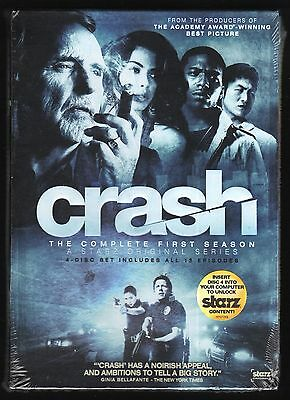 Crash: The Complete First Season 1 (4-DVD set, 2009) NEW - Dennis Hopper, Starz