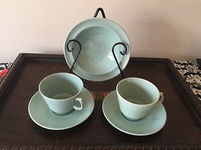 Vintage Set Of 2 Marlborough Woods Ware Bery  Duos And Bowl Made In England E/C