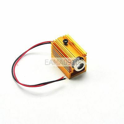 Focusable 650nm 200mW red laser diode Dot modules with golden heatsink