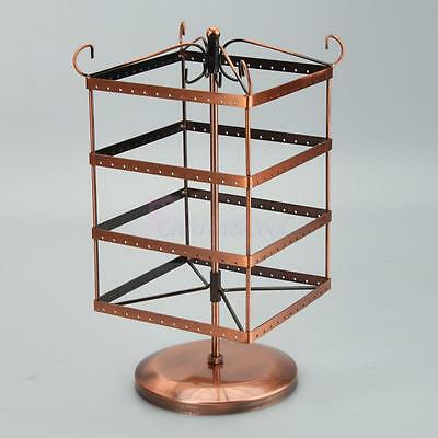 New Bronze Earrings Holder Display Hanger Women's Rack Jewelry Rotating Stand us
