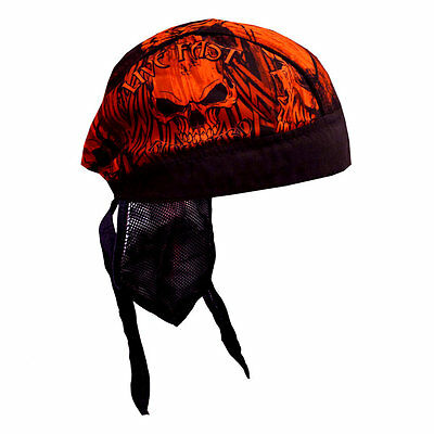 Biker Chopper Kopftuch Bandana Headwrap Over The Top Skull Schädel Totenkopf