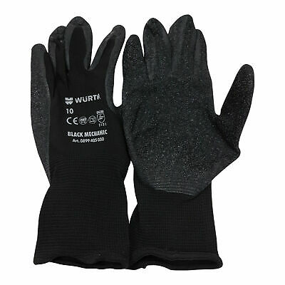 Wurth Mechanics Gripper Gloves (XL-10) 6 x Pairs
