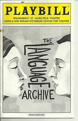 Playbill The Language Archive Roundabout Theatre Oct 2010 FREE SHIPPING