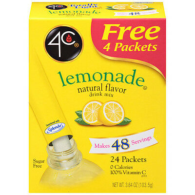 4C Sugar Free Drink Mix 24 Stix - Lemonade, Diabetic, Low Carb