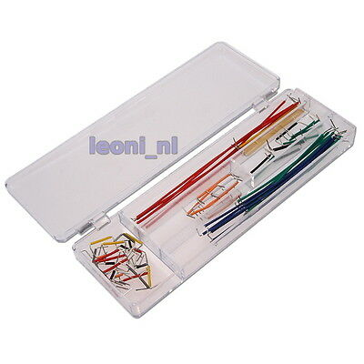 140x Solderless Breadboard Jumper Leads Wires Cables Arduino PIC Raspberry pcs
