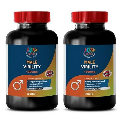 Male Enhance - MALE VERILITY with Maca, Boron Citrate, Zinc (2 Bottles)