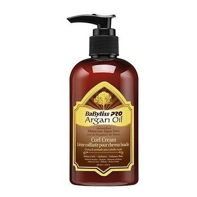Babyliss Pro Morrocan Argan Oil Curl Cream 300ML Frizzy Curly Hair Styling