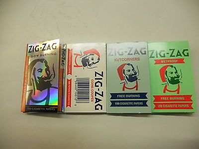 4 Zig-Zag Rolling paper  4*100 White, Blue, Green and orange