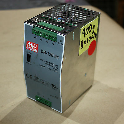 Mean Well DR-120-24 AC/DC Power Supply Single-OUT 24V 5A 120W 7-Pin