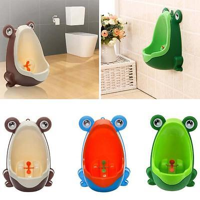 Potty Seat Training Toddler Child Kids Infant Fun Frog Toilet Urine Bathroom FT