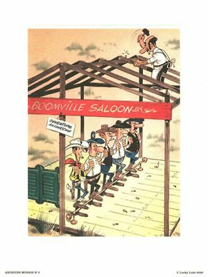 Affiche Offset Lucky Luke Archives N°3 : Saloon