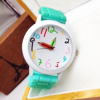 Womens Mens Kids Girls Boys Ladies Wrist Watch Jelly Silicone Watches