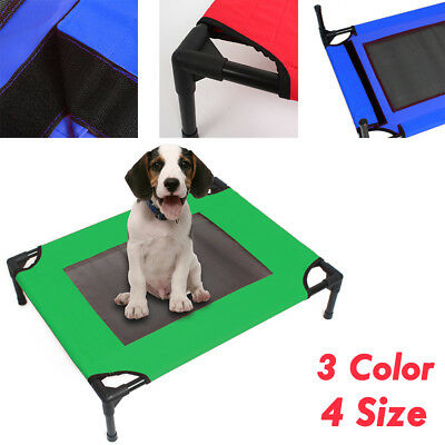 Heavy Duty Pet Bed Dog Trampoline Hammock Bed Cat Puppy Cover Foldable Frame AU