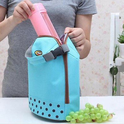 Hot Women Portable Insulated Thermal Cooler Lunch Box Carry Bag Travel Picnic