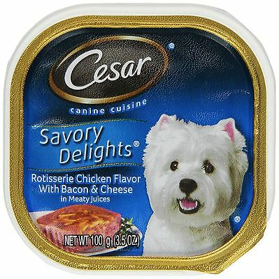 Cesar 3.5oz Savory Delights Wet Dog Food by Cesar 10097331 Chicken / Poultry DTF