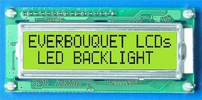 LED Backlit LCD Displays Alphanumeric Select Type from Dropdown Menu