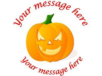 35 Personalised Halloween Stickers 3for2 Pumpkin 158 Gift Label Sticker party