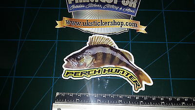 Perch Hunter Fishing Sticker Full Colour Bait Lure Angling Crafty Crew Coarse