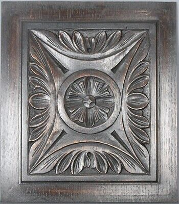 Antique Architectural Carved wood Panel 19th