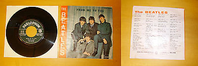"""45 Giri """"FROM ME TO YOU"""" THE BEATLES, PARLOPHON 1964 GREEN LABEL EX / EX"""