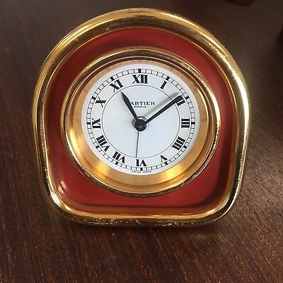 Cartier Mechanical Desk Alarm Clock