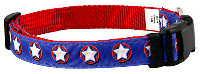 Country Brook Design® Deluxe American Star Ribbon Dog Collar