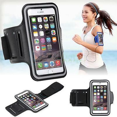 Neoprene Sports Gym Running Arm Armband Case iPhone 6 6S - Black