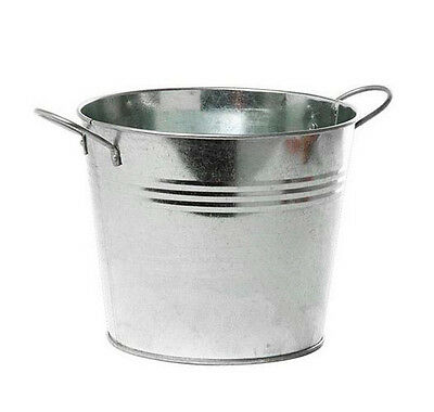 RETRO Tin Bucket with Handles for restaurant TABLES