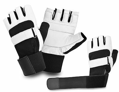 Bus Driving Gloves Fingerless Wheelchair Weight Lifting Gym Leather Padded Palm