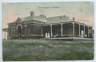 C1910 Pt Pu Postcard The Hospital Young Nsw F P Hobbs Photo Z7