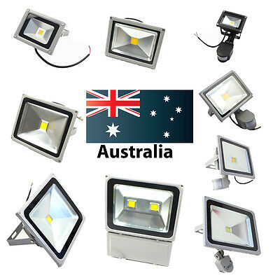 10W 20W 30W 50W 100 LED Flood Light Cool Warm PIR Sensor Outdoor Floodlight Lamp