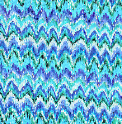 "Indian Zig Zag Design Cotton Kantha Stitch C/Cover - Turquoise Blue -16""/41 cm"