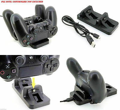 Dual Usb Charger Docking Station Charging Stand For Playstation 4 Ps4 Controller