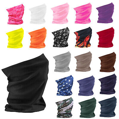 Mens Ladies Multi Use Scarf Balaclava Bandana Mask Tube Head Hair Band Gym Cycle