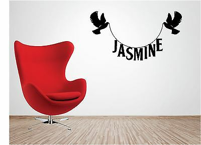 PERSONALISED NAME vinyl wall art QUOTE sticker decal DOVE BIRD childrens baby