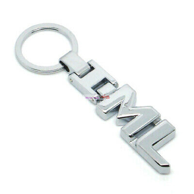Metal Car Keychain Keyring Key Chain Chains Ring For Letter ML ML250 ML350 Serie