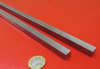 """Square 1018 Steel Bar, 7/16"""" Thick x 7/16"""" Wide x 36"""" Length, 2 Pcs"""