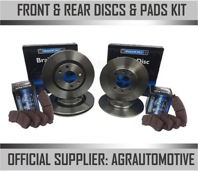 Oem Spec Front + Rear Discs And Pads For Volkswagen Caddy Maxi 1.6 Td 2010-