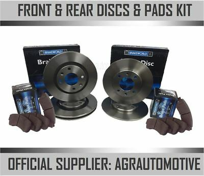 Oem Spec Front + Rear Discs And Pads For Toyota Corolla 1.6 Gt Fwd Ae82 1984-87