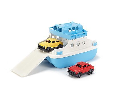 Green Toys Ferry Boat with Mini Cars Bathtub Toy, Blue/White by Green Toys XTS