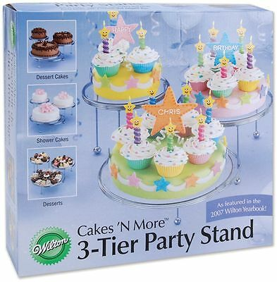 Wilton 307-859 3-Tier Cakes and Cupcake Stand by Wilton FREE SHIPPING NEW