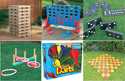 Bargain Outdoor Garden Pub Wedding Fete Games Package Inc Giant Jenga Connect 4