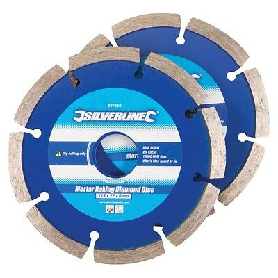 "1  x  115mm (4.5"") MORTAR POINTING RAKE DISC - DIAMOND BLADE + FREE DELIVERY"