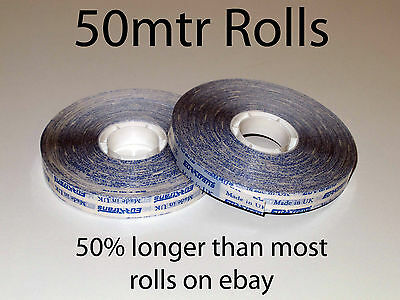 2 Rolls of 12mm ATG Tape x 50mtrs Double sided adhesive transfer tape
