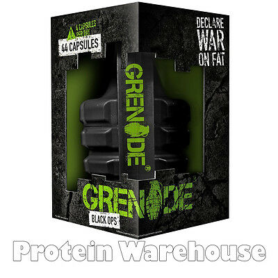 Grenade Thermo Black Ops 44 Capsules Fat Burner Weight Loss free P&P BBE 11/2016
