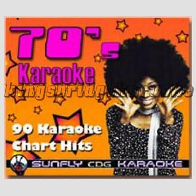 Sunfly Karaoke CDG CD+G Hits Of The 70s, 6 Disc Set