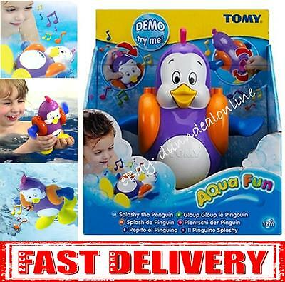 Tomy Aqua Fun Tomy Splashy the Penguin Baby Bath time Musical Windup Toy