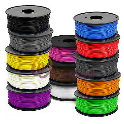3D Printer Filament 1.75mm 3mm ABS/PLA 1kg/2.2lb RepRap MarkerBot BUY 3+ 10% OFF