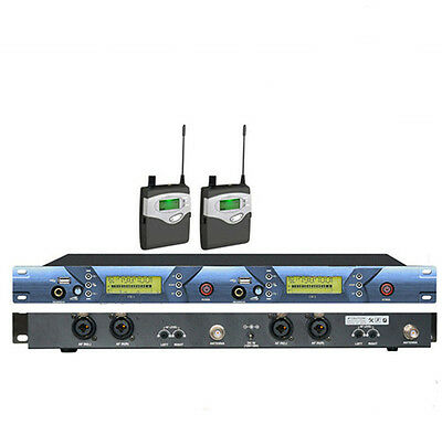 For Stage Professional 2 channel UHF Wireless In-Ear Headphones Monitor System